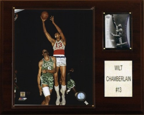 "Philadelphia 76ers Wilt Chamberlain 12"" x 15"" Player Plaque"