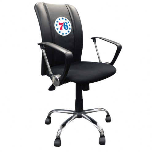 Philadelphia 76ers XZipit Curve Desk Chair with Secondary Logo