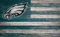 "Philadelphia Eagles 11"" x 19"" Distressed Flag Sign"