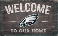 """Philadelphia Eagles 11"""" x 19"""" Welcome to Our Home Sign"""