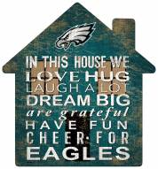 "Philadelphia Eagles 12"" House Sign"