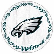 "Philadelphia Eagles 12"" Welcome Circle Sign"