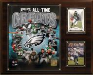 """Philadelphia Eagles 12"""" x 15"""" All-Time Great Plaque"""
