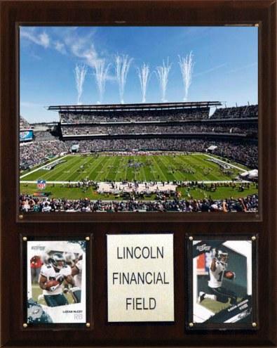 """Philadelphia Eagles 12"""" x 15"""" Stadium Plaque"""