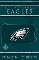 "Philadelphia Eagles 17"" x 26"" Coordinates Sign"