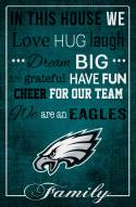 """Philadelphia Eagles 17"""" x 26"""" In This House Sign"""