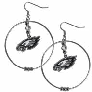 "Philadelphia Eagles 2"" Hoop Earrings"