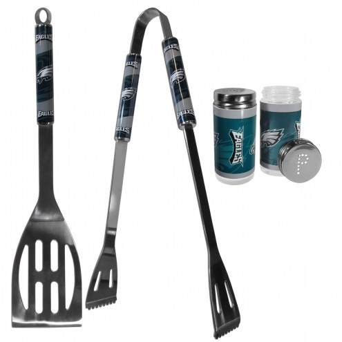 Philadelphia Eagles 2 Piece BBQ Set with Tailgate Salt & Pepper Shakers