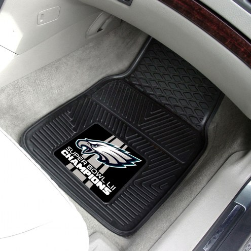 Philadelphia Eagles 2018 Super Bowl LII Champions Vinyl 2-Piece Car Floor Mats