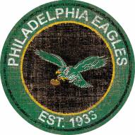 "Philadelphia Eagles 24"" Heritage Logo Round Sign"