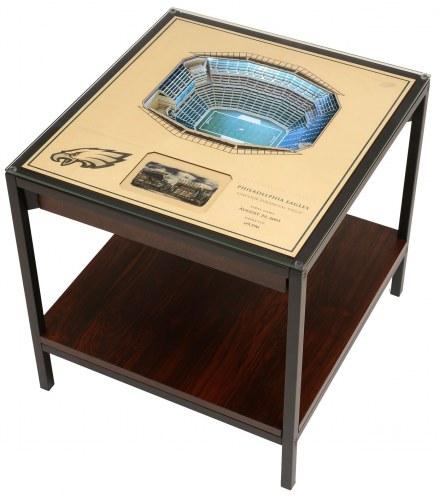 Philadelphia Eagles 25-Layer StadiumViews Lighted End Table