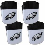 Philadelphia Eagles 4 Pack Chip Clip Magnet with Bottle Opener