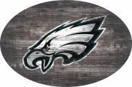 """Philadelphia Eagles 46"""" Distressed Wood Oval Sign"""