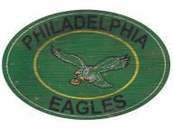 "Philadelphia Eagles 46"" Heritage Logo Oval Sign"
