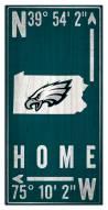 "Philadelphia Eagles 6"" x 12"" Coordinates Sign"