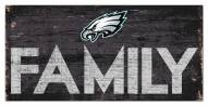 "Philadelphia Eagles 6"" x 12"" Family Sign"
