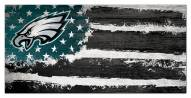 "Philadelphia Eagles 6"" x 12"" Flag Sign"
