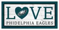 "Philadelphia Eagles 6"" x 12"" Love Sign"