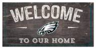 "Philadelphia Eagles 6"" x 12"" Welcome Sign"