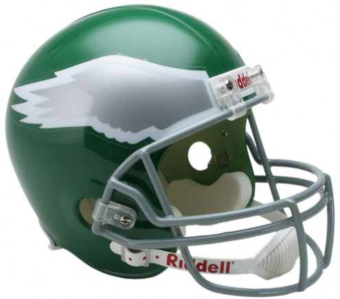 Philadelphia Eagles 74-95 Riddell VSR4 Collectible Full Size Football Helmet