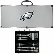 Philadelphia Eagles 8 Piece Stainless Steel BBQ Set w/Metal Case