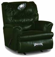 Philadelphia Eagles Big Daddy Green Leather Recliner