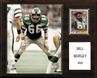 "Philadelphia Eagles Bill Bergey 12"" x 15"" Player Plaque"