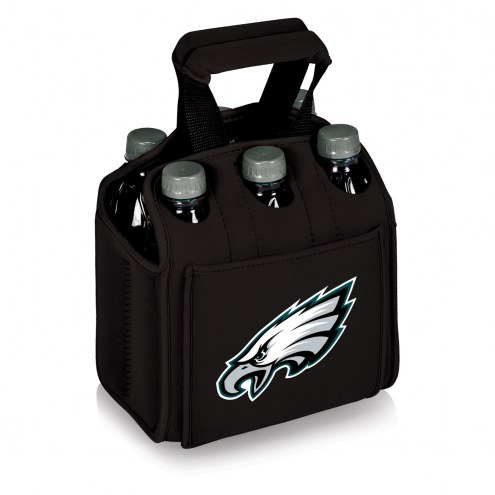 Philadelphia Eagles Black Six Pack Cooler Tote