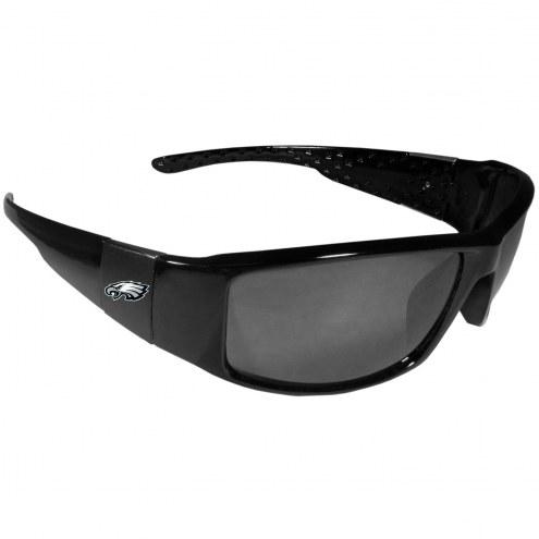 Philadelphia Eagles Black Wrap Sunglasses