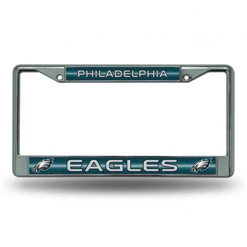 Philadelphia Eagles Chrome Glitter License Plate Frame