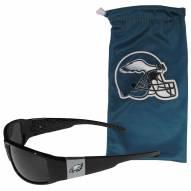 Philadelphia Eagles Chrome Wrap Sunglasses & Bag