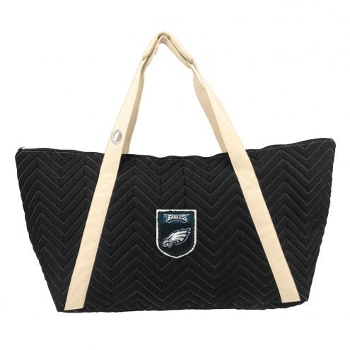 Philadelphia Eagles Crest Chevron Weekender Bag