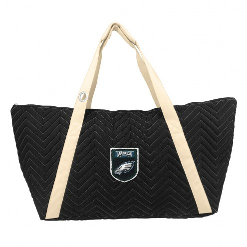 Philadelphia Eagles Crest Chevron Weekender Bag