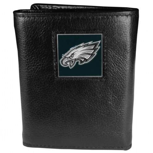 Philadelphia Eagles Deluxe Leather Tri-fold Wallet in Gift Box