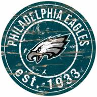 Philadelphia Eagles Distressed Round Sign