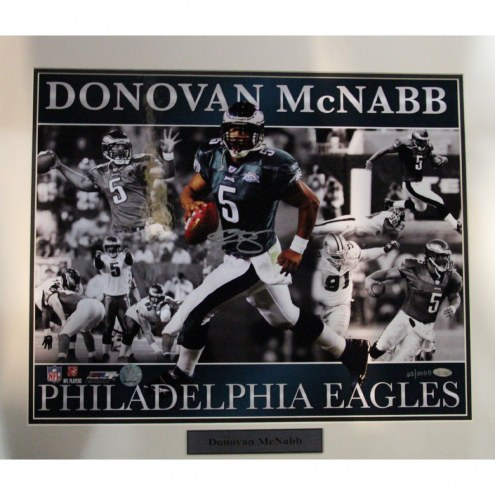 "Philadelphia Eagles Donovan McNabb Matted Collage Signed 16"" x 20"" Photo"