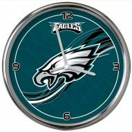 Philadelphia Eagles Dynamic Chrome Clock