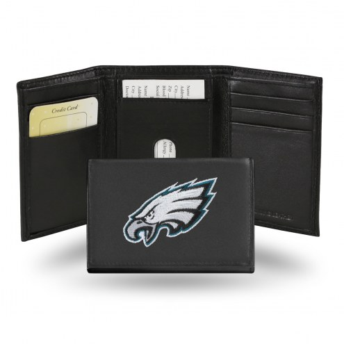 Philadelphia Eagles Embroidered Leather Tri-Fold Wallet