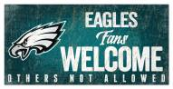 Philadelphia Eagles Fans Welcome Sign