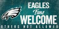 Philadelphia Eagles Fans Welcome Wood Sign