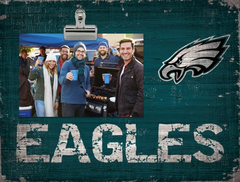 Philadelphia Eagles Wood Clip Frame