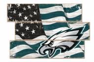 Philadelphia Eagles Flag 3 Plank Sign