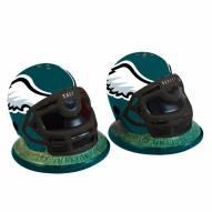 Philadelphia Eagles Football Helmet Salt and Pepper Shakers