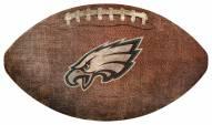 Philadelphia Eagles Football Shaped Sign