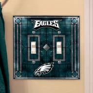 Philadelphia Eagles Glass Double Switch Plate Cover