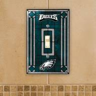 Philadelphia Eagles Glass Single Light Switch Plate Cover