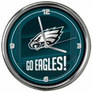 Philadelphia Eagles Go Team Chrome Clock