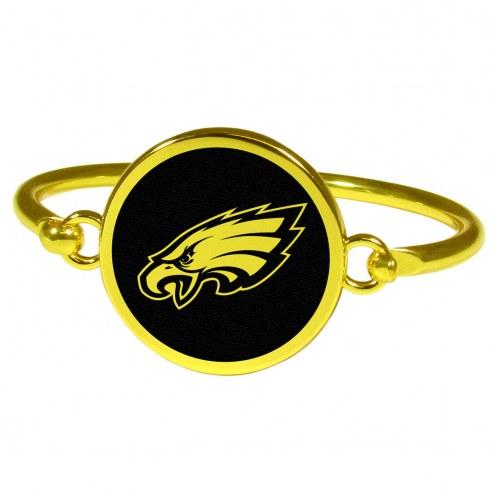 Philadelphia Eagles Gold Tone Bangle Bracelet