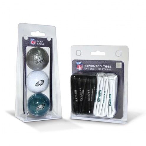 Philadelphia Eagles Golf Ball & Tee Pack