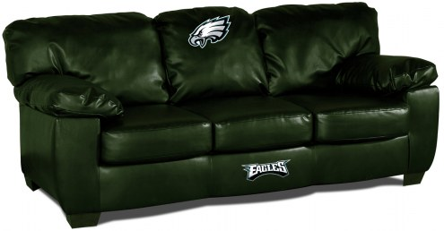 Philadelphia Eagles Green Leather Classic Sofa